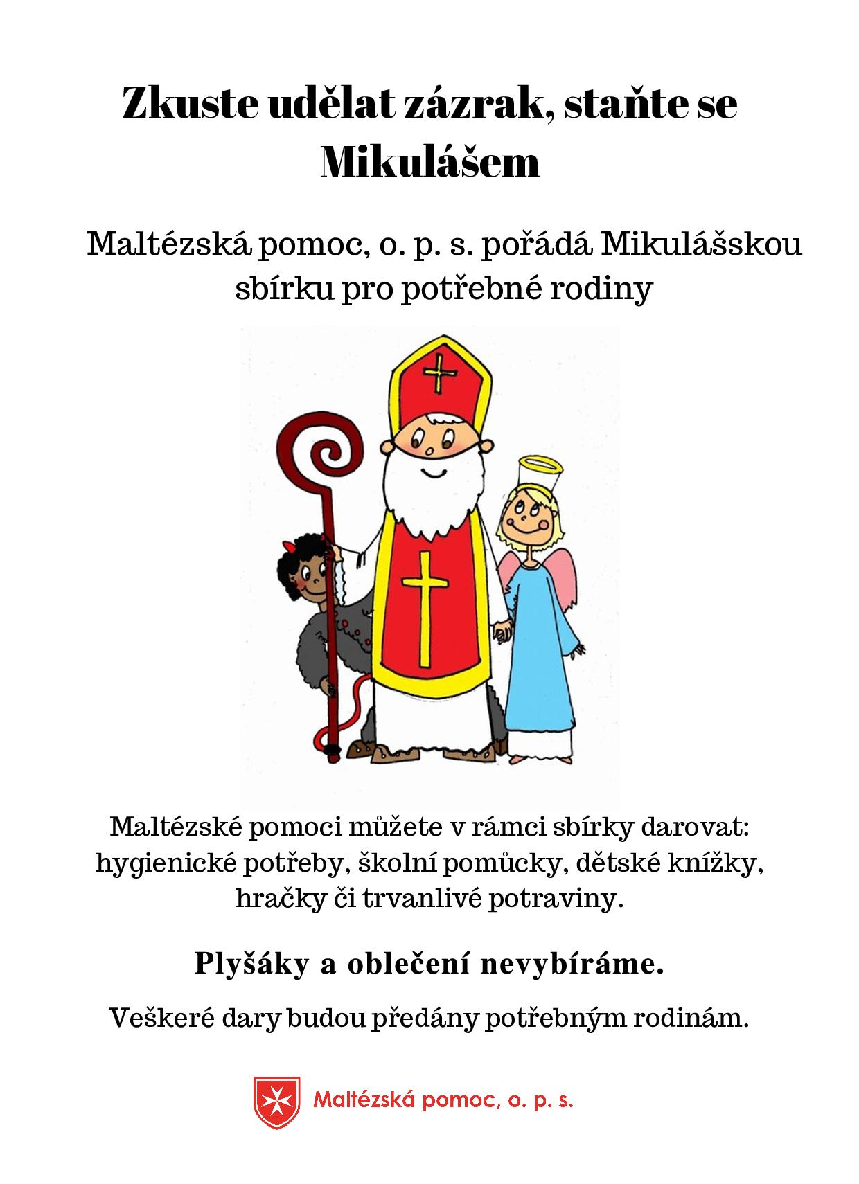 Mikulášská sbírka plakát