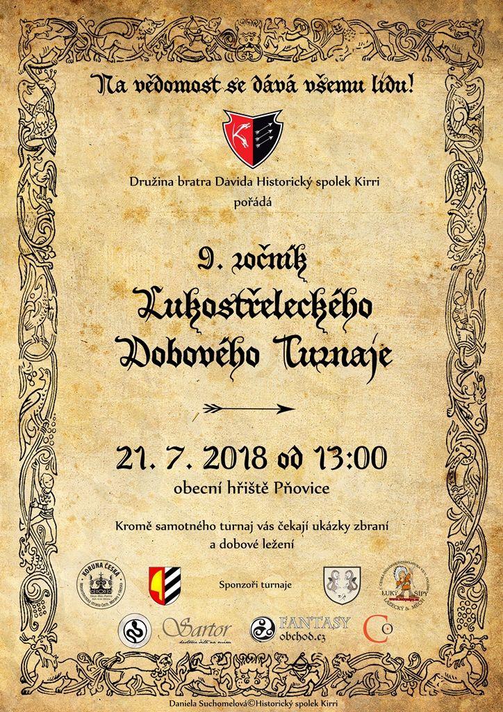 Lukostřelecký turnaj Pňovice 2018